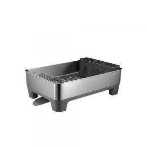 EKO-Dish-Rack-Grey-(EK9273-DG)-18x36.8x52.5cm